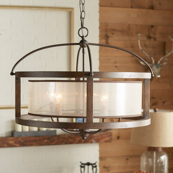 Aadhya 5 - Light Candle Style Drum Chandelier by Three Posts Three Posts