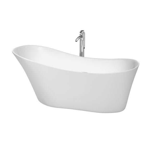 Janice 67 x 29.25 Soaking Bathtub by Wyndham Collection