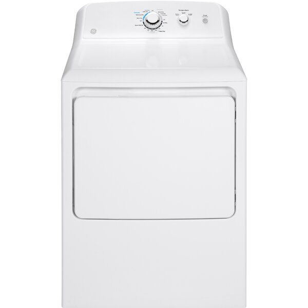 6.2 cu. ft. High Efficiency  Electric Dryer with Aluminized Alloy Drum by GE Appliances