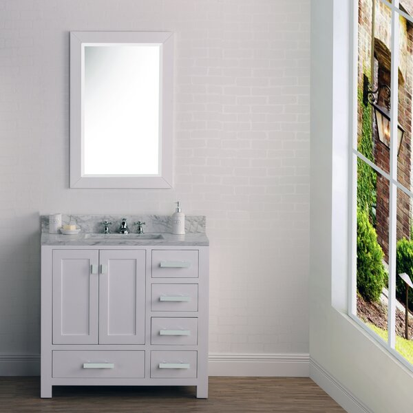 Coats 36 Cashmere Single Bathroom Vanity Set with Mirror by Ebern Designs
