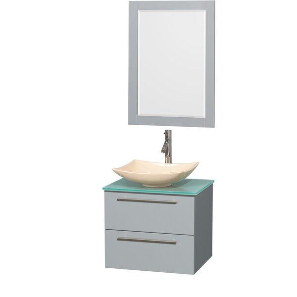 Amare 24 Wall-Mounted Single Bathroom Vanity Set with Mirror