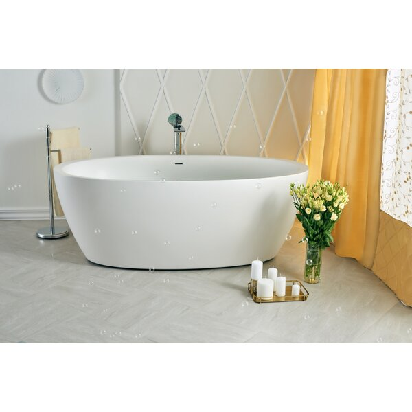 Sensuality 69.75 x 35 Soaking Bathtub by Aquatica