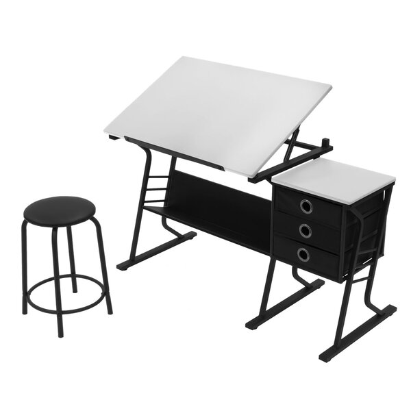 Eclipse 2 Piece Drafting Table Set by Offex