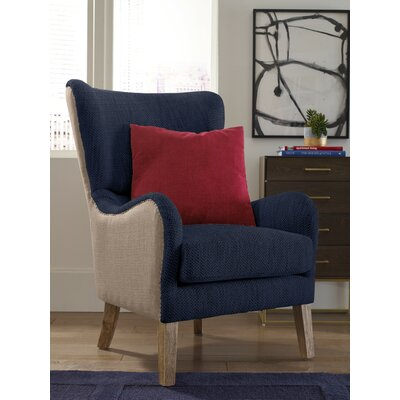 Wingback Chair Brown Navy img