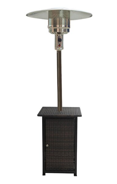Tall Square 48,000 BTU Propane Patio Heater with Wheels by AZ Patio Heaters