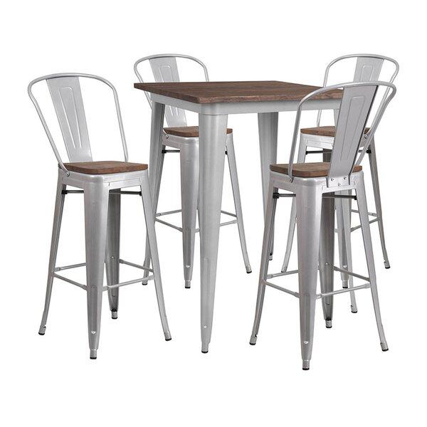 Mudd Square 5 Piece Pub Table Set by Williston Forge