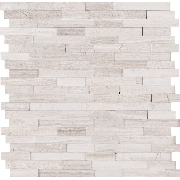 White Quarry Marble Mosaic Tile in Gray by MSI