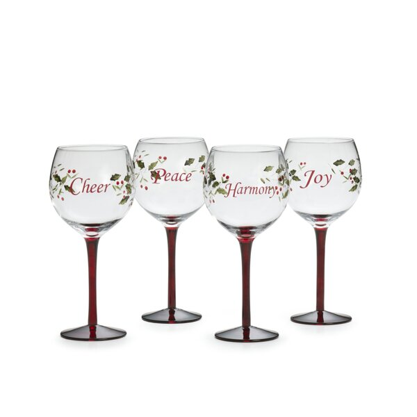 Winterberry 4 Piece 16 Oz. Goblet Set by Pfaltzgraff