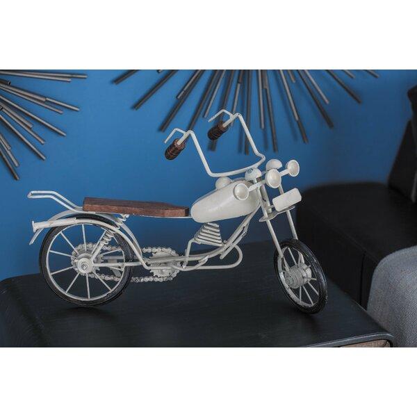 Metal/Wood Bike Sculpture by Cole & Grey