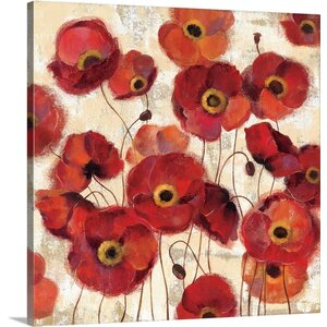 'Bold Poppies' by Silvia Vassileva Painting Print on Canvas by Canvas On Demand