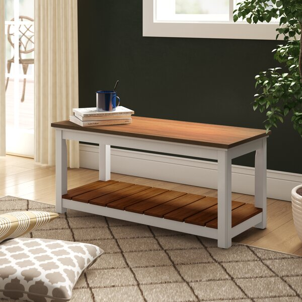 Gilmore Wood Storage Bench By Rosecliff Heights