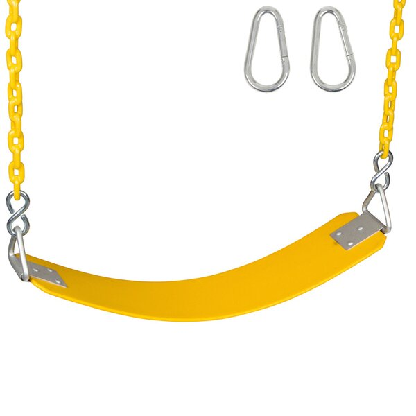 Commercial Seat with Coated Chain by Swing Set Stuff