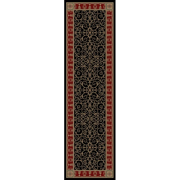 Hometown Paloma Ebony/Claret Area Rug by Mayberry Rug