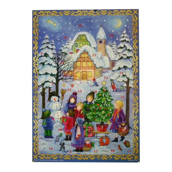 Sellmer Outdoor Winter Scene Advent Calendar by The Holiday Aisle
