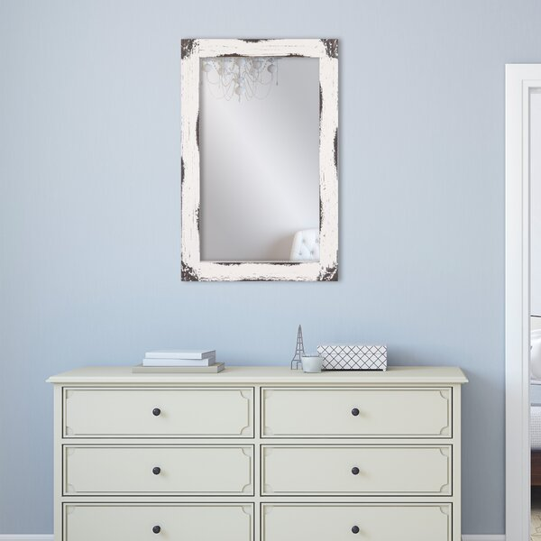 Tryphena Distressed Reclaimed Wall Mounted Mirror by Gracie Oaks