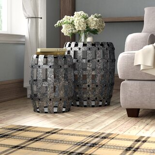Alison Galvanized 2 Piece End Tables by Laurel Foundry Modern Farmhouse SKU:AE583045 Order