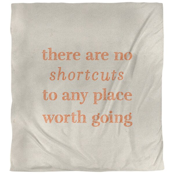 Quotes Handwritten No Shortcuts Single Reversible Duvet Cover