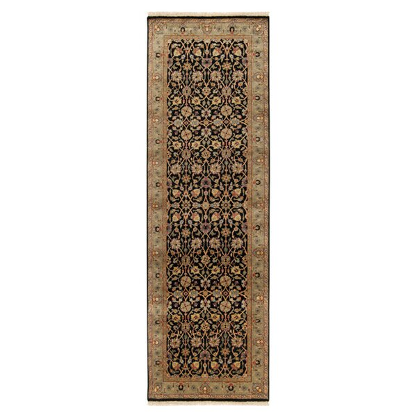 Attica Black Oriental Area Rug by Astoria Grand
