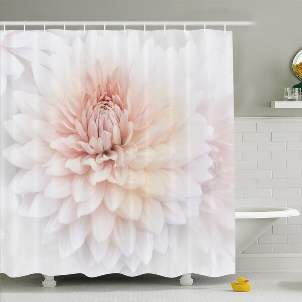 Blossom with Distinct Macro Petals Vine Herbs Seeds Natural Wonder Image Shower Curtain Set by East Urban Home