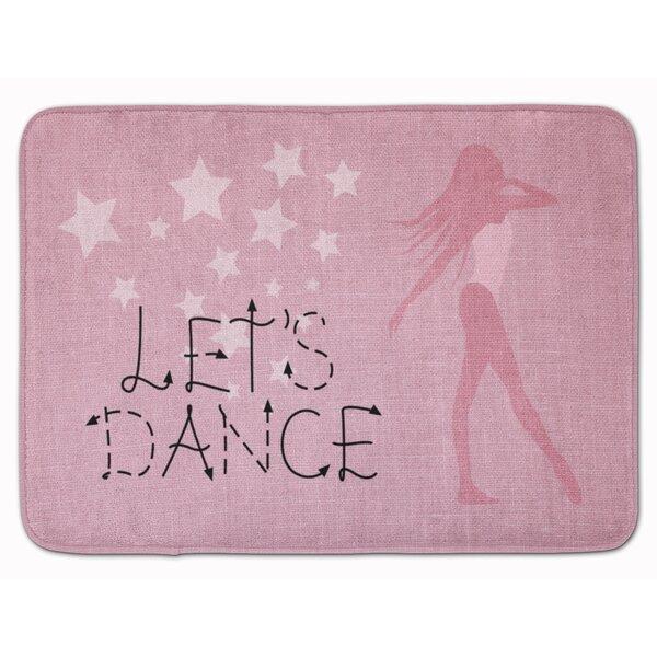 Let's Dance Linen Rectangle Microfiber Non-Slip Bath Rug