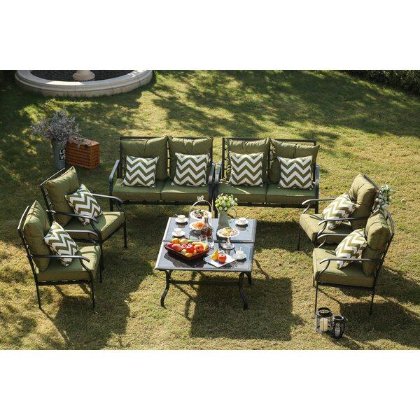 Escobar 8 Piece Conversation Set with Cushions by Red Barrel Studio