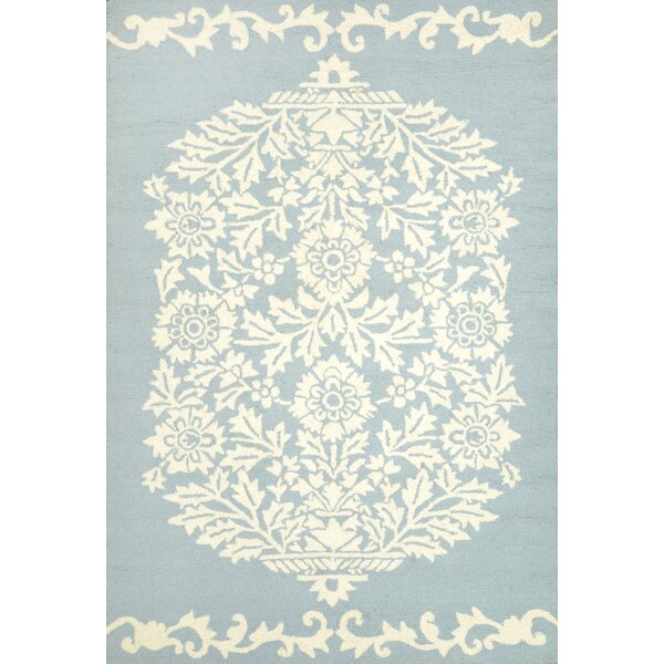 Repca Nyslsay Hand-Woven Blue/Cream Area Rug by nuLOOM