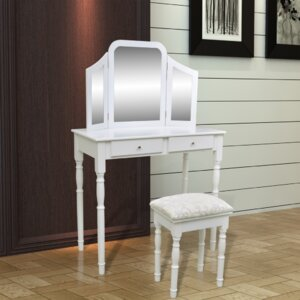 Schminktisch-Set mit Spiegel von Home Etc
