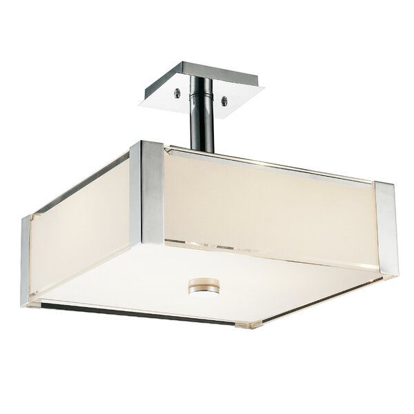 Lucie 3 - Light Unique / Statement Rectangle / Square Chandelier By CWI Lighting