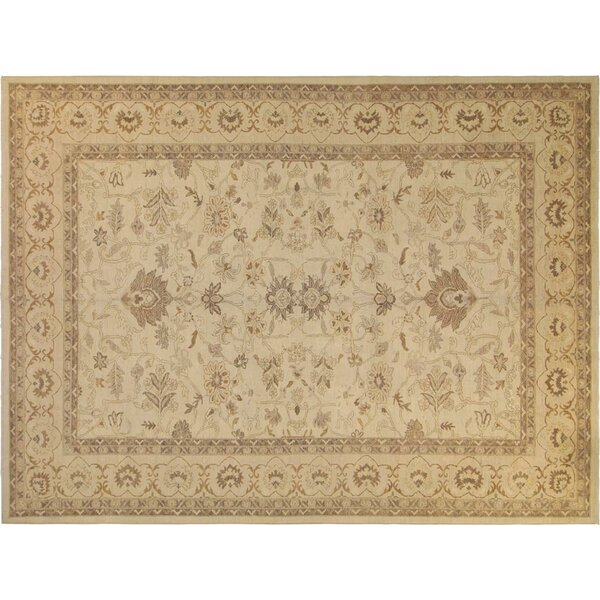 Xenos Traditional Hand-Knotted Wool Ivory Area Rug by Astoria Grand