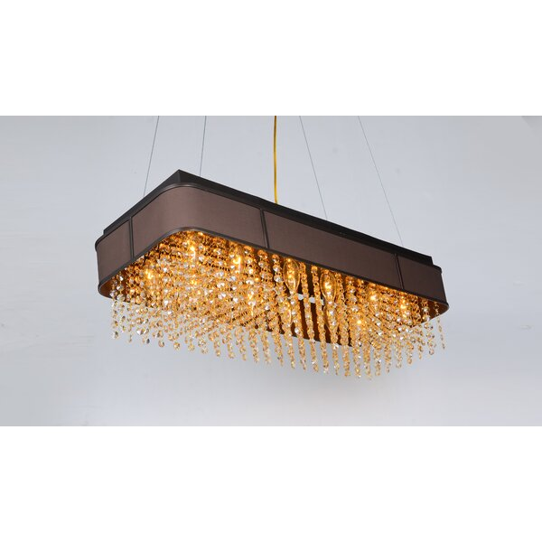Wanamaker 12 - Light Unique / Statement Geometric Chandelier By Red Barrel Studio