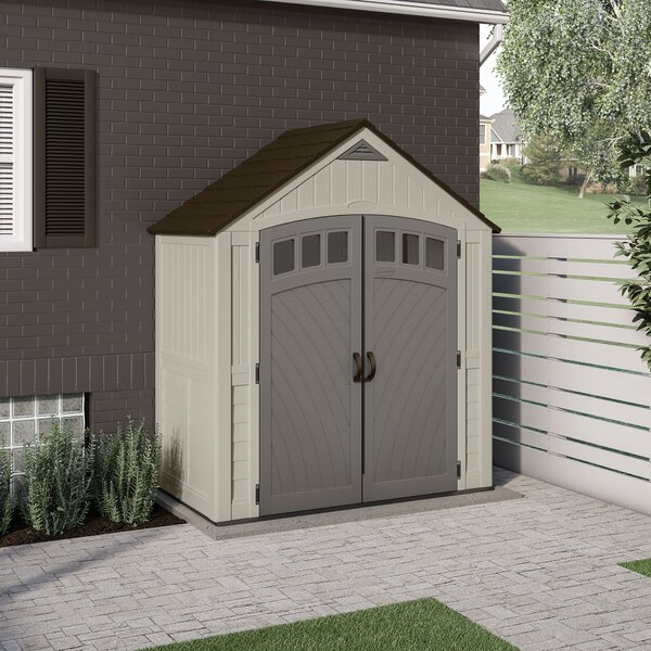 Covington 7 ft. 5 in. W x 3 ft. 11 in. D Metal Storage Shed by Suncast