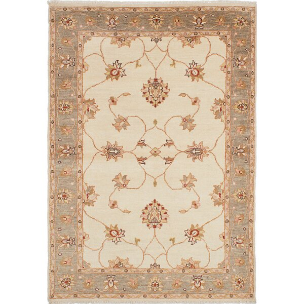 One-of-a-Kind Liadan Hand-Knotted Cream Area Rug by Isabelline