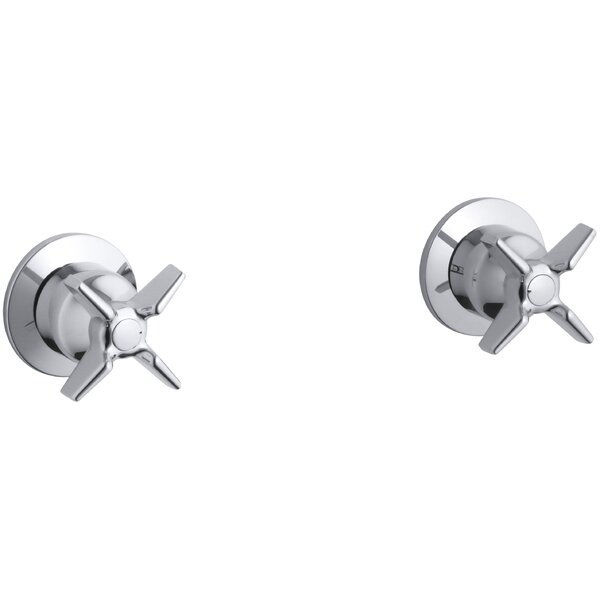 Triton Wall-Mount Valve Trim with Cross Handles, Requires Valve by Kohler