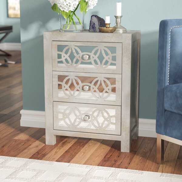 Dimattia Mirrored 3 Drawer Accent Chest by Willa Arlo Interiors