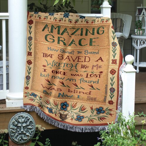 Amazing Grace Tapestry Cotton Throw by Manual Woodworkers & Weavers