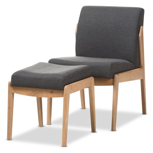 Gustavo Slipper Chair and Ottoman by Langley Street