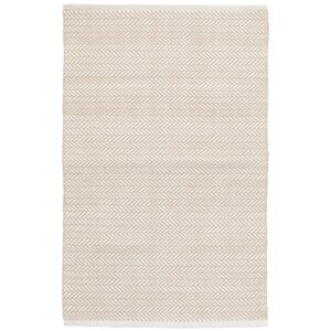 C3 Herringbone White Indoor/Outdoor Area Rug