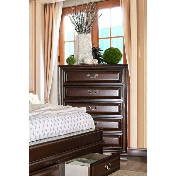 Perera Transitional 5 Drawer Chest by Charlton Home