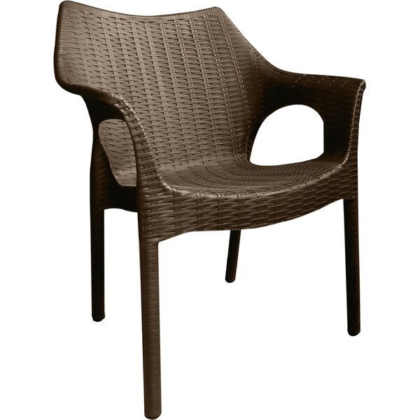 Rockwell Carina Weatherproof Patio Chair (Set of 2) by Wrought Studio