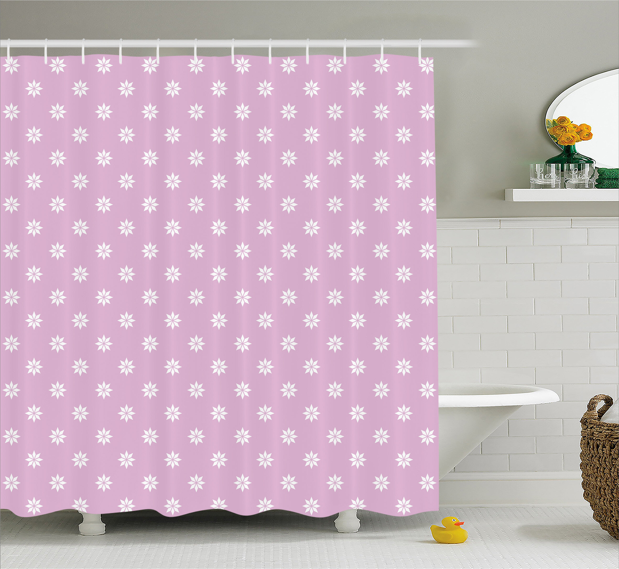 Viv + Rae Bradford Abstract Fractal Circle Shower Curtain | Wayfair