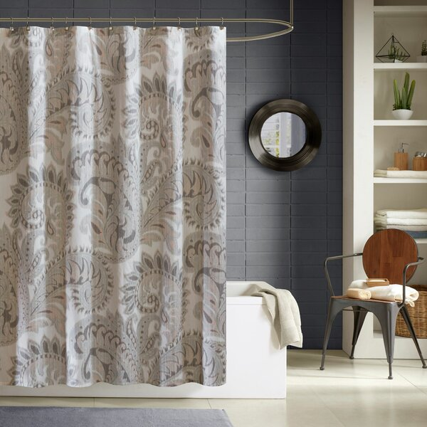 Kennesaw Cotton Shower Curtain by Bungalow Rose