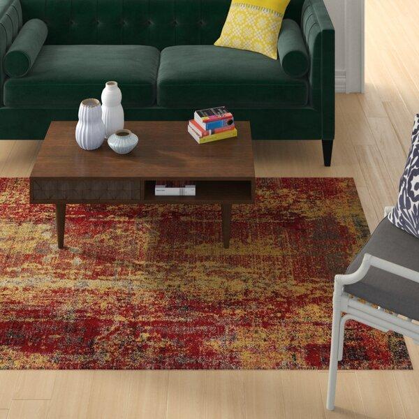 Bumgardner Red/Yellow Indoor/Outdoor Area Rug by Wrought Studio