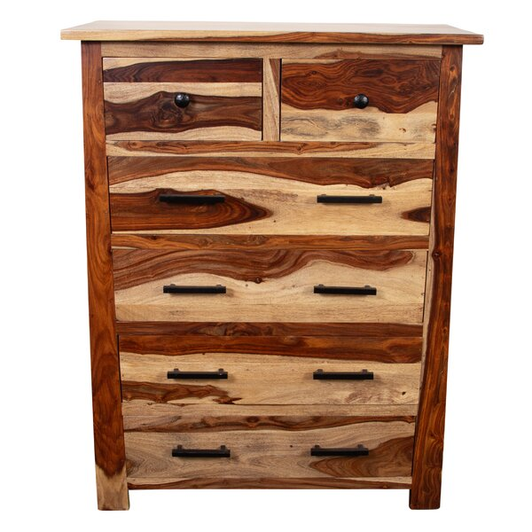 Marissa Solid Sheesham Wood 6 Drawer Chest by Loon Peak