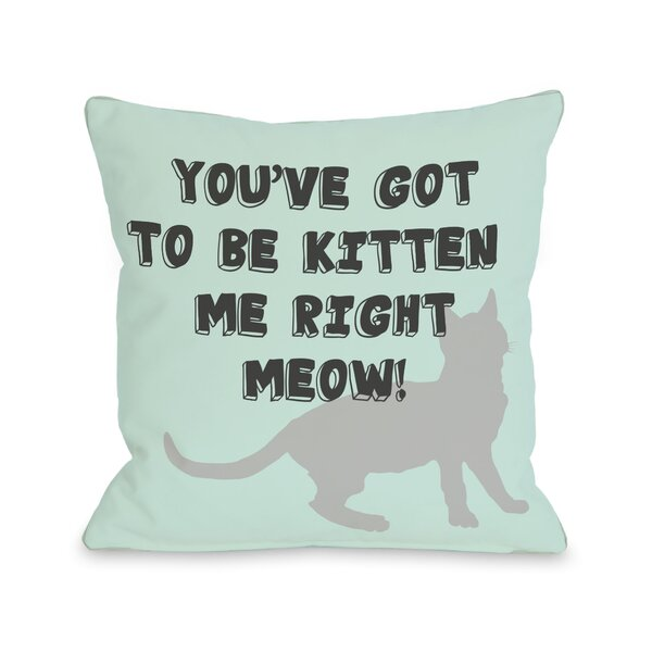 Doggy Décor Got to Be Kitten Me Throw Pillow by One Bella Casa