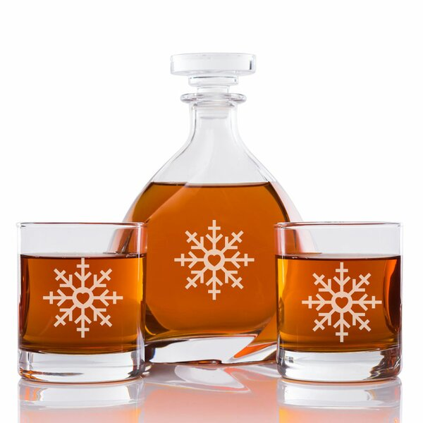 Snowflake Engraved Madison 3 Piece Beverage Servin