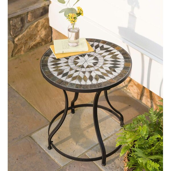 Slate Star Pattern End Table By Plow & Hearth