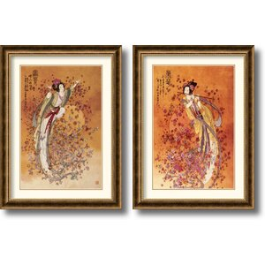 'Wealth and Prosperity' 2 Piece Framed Painting Print Set (Set of 2) by Amanti Art