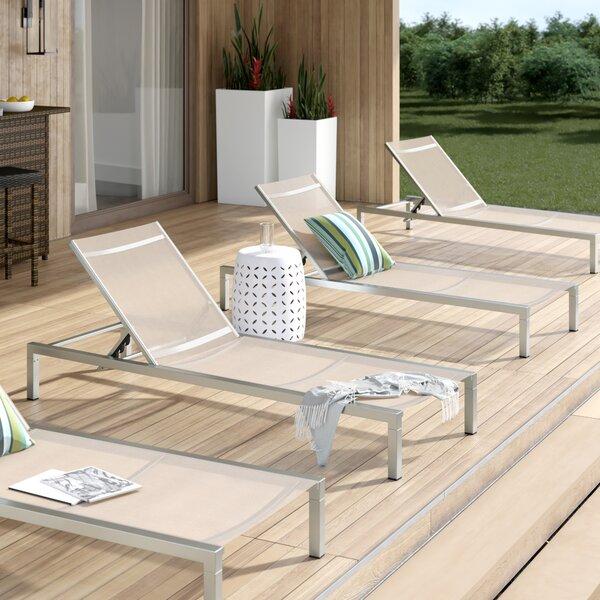 Mirando Reclining Chaise Lounge (Set of 4)