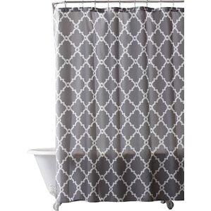 Alta Microfiber Shower Curtain. Aqua Black Gray ...