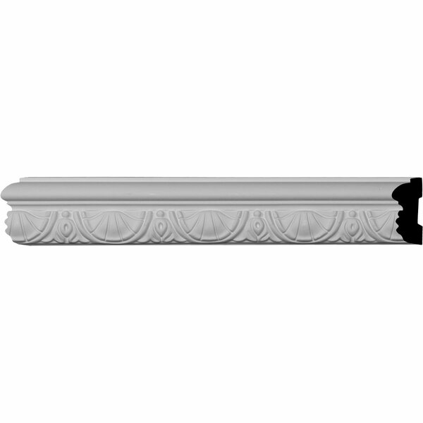 Shell 2 3/8H x 96 1/8W x 1 1/8D Panel Molding by Ekena Millwork